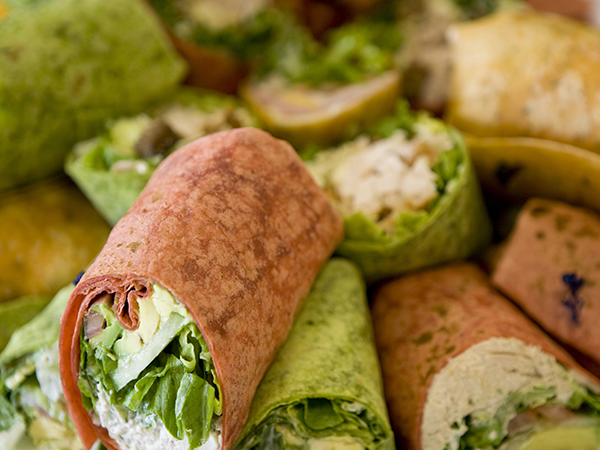 Variety Of Wraps On Selected Menus